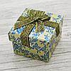 Коробочка для кольца-серег оливковая 741160 размер 5х4 см, фото 2