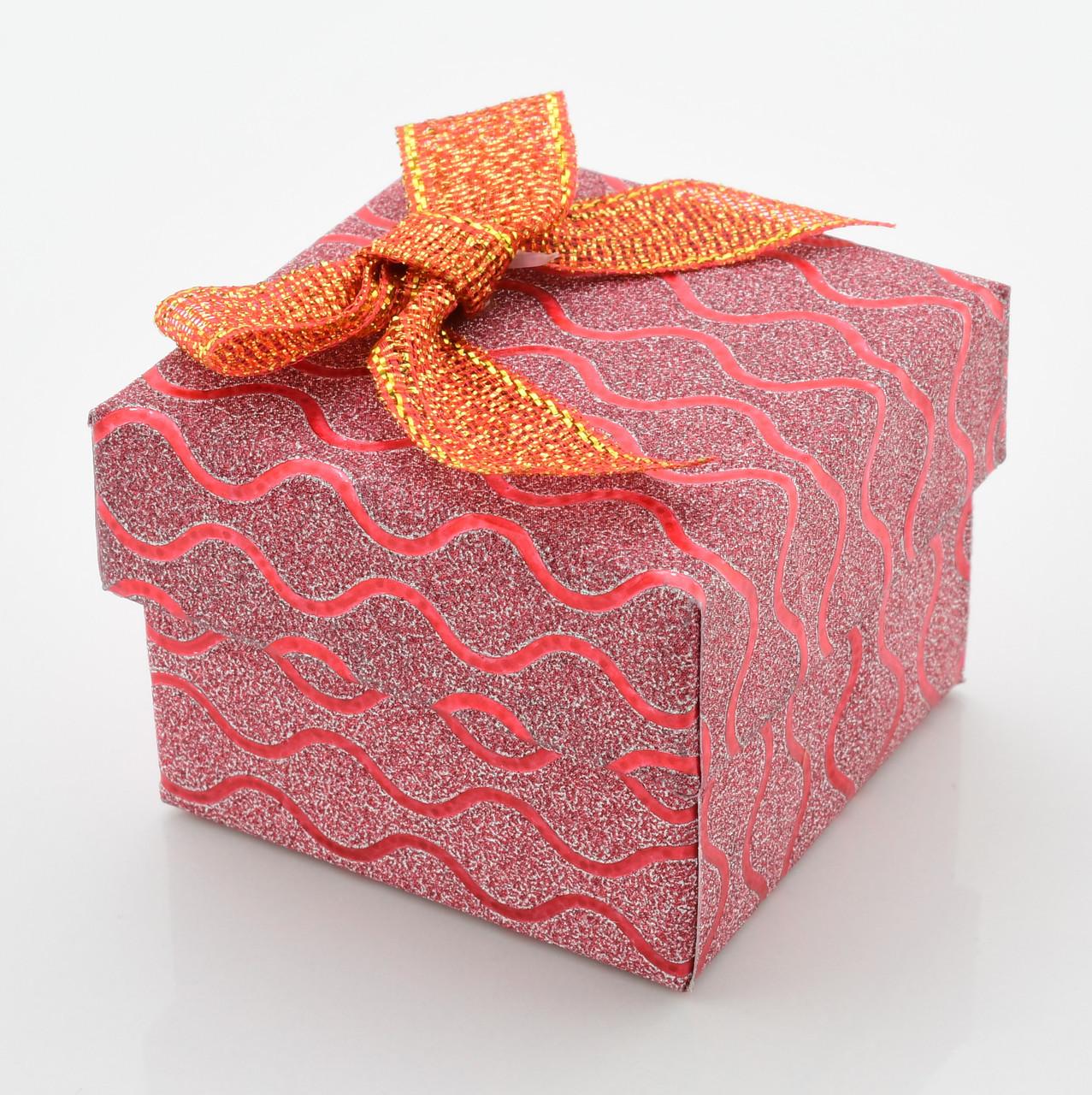 Коробочка для кольца-серег 741208 красная, размер 4*5 см