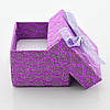 Коробочка для кольца-серег 741208 фиолетовая, размер 4*5 см, фото 4