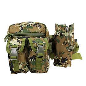 Сумка тактична на пояс AOKALI Outdoor A33 4L Camouflage Green КОД: 5364-16930