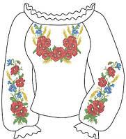 Заготовка для жіночої вишиванки бісером 010
