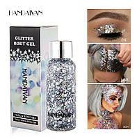 Жидкие гелевые блестки, глиттер HANDAIYAN / Han Daiyan для макияжа и тела