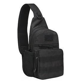 Рюкзак тактичний на одне плече AOKALI Outdoor A14 20L Black КОД: 5368-16999