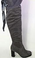 Женские ботфорты на каблуке, фото 1