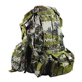 Рюкзак тактичний +3 підсумки AOKALI Outdoor B08 75L Camouflage Green КОД: 5367-17009