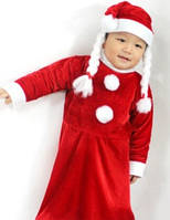 """Новогодний костюм на девочку """"Санта"""" велюр, Одесса"""