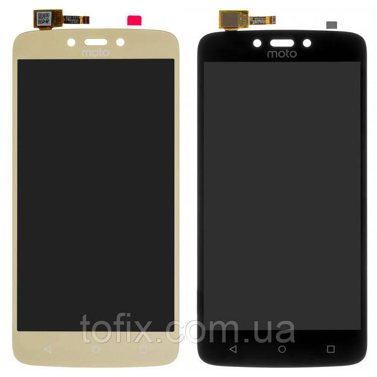 Дисплей для Motorola Moto C Plus XT1723, модуль в сборе (экран и сенсор), оригинал