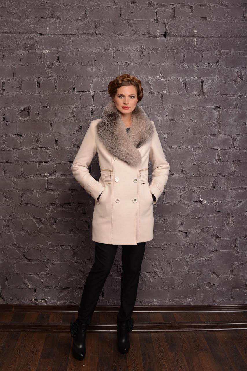 Женское зимнее пальто с шалевым воротником