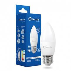 Світлодіодна Лампочка Lectris Led 1-LC-1304 C37 7W 4000K 220V E27