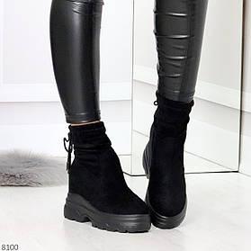 Зимние ботинки с Экозамши 8100