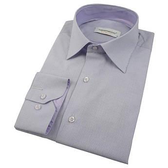 Чоловіча приталена сорочка Negredo 530 NDS 14 в дрібну смужку
