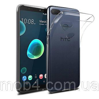 Силиконовый прозрачный чехол для HTC Desire 12 plus