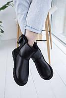Комфортная обувь утепленная мехом для девушек UGG. Стильные женские УГГИ с замшевым задником зимние.