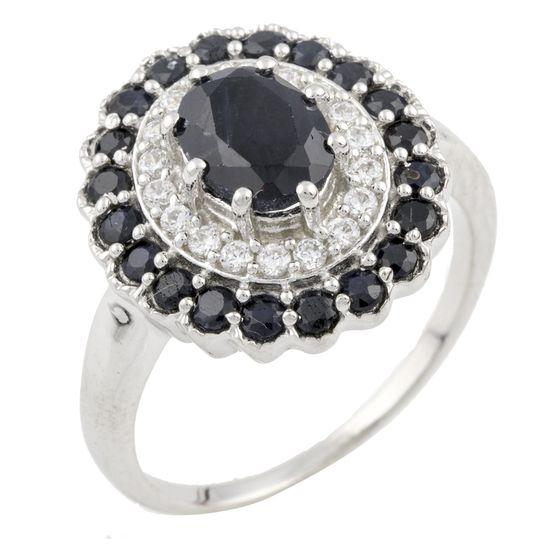 Серебряное кольцо GS с натуральным сапфиром 3.035ct (0468839) 19 размер