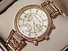 Женские кварцевые наручные часы Michael Kors со стразами на металлическом ремешке