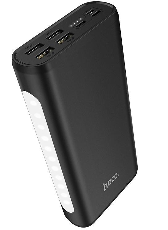 УМБ портативний зарядний Power Bank HOCO J60 30000 mAh, чорне
