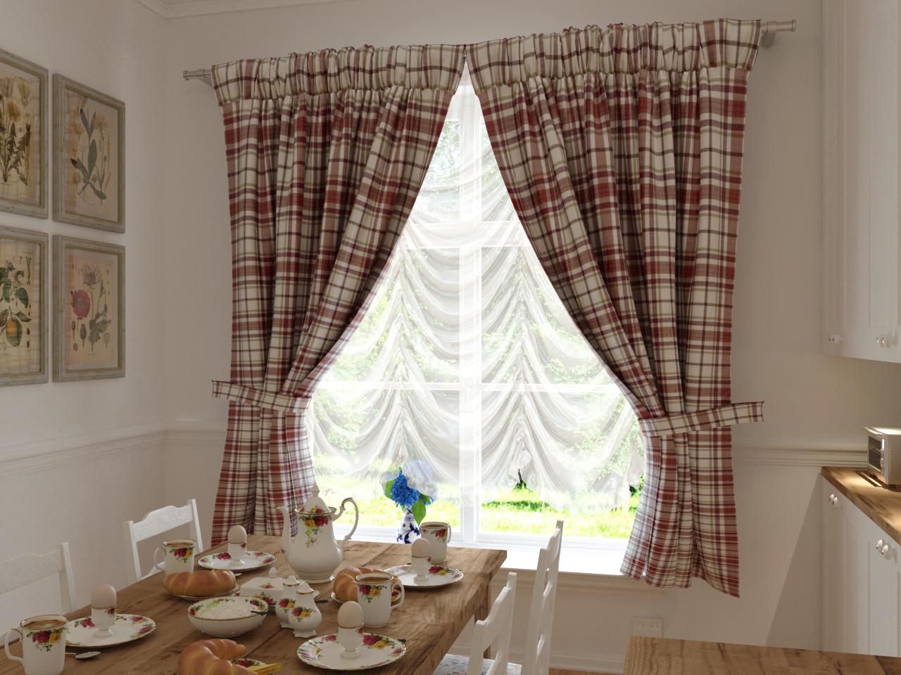 Купить шторы на кухню прованс. Пошив 150 грн/штора