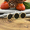 Серебряный набор с золотом Загадка кольцо размер 18.5+ серьги 14х14 мм вставка оникс, фото 4