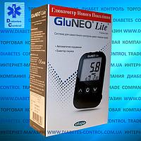 Глюкометр GluNeo Lite / ГлюНео Лайт (25 тест-полосок и ланцетов в наборе)