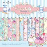 "Набор скрап бумаги ""Cupcake Boutique"" Dovecraft12 шт. 20х20см, фото 1"