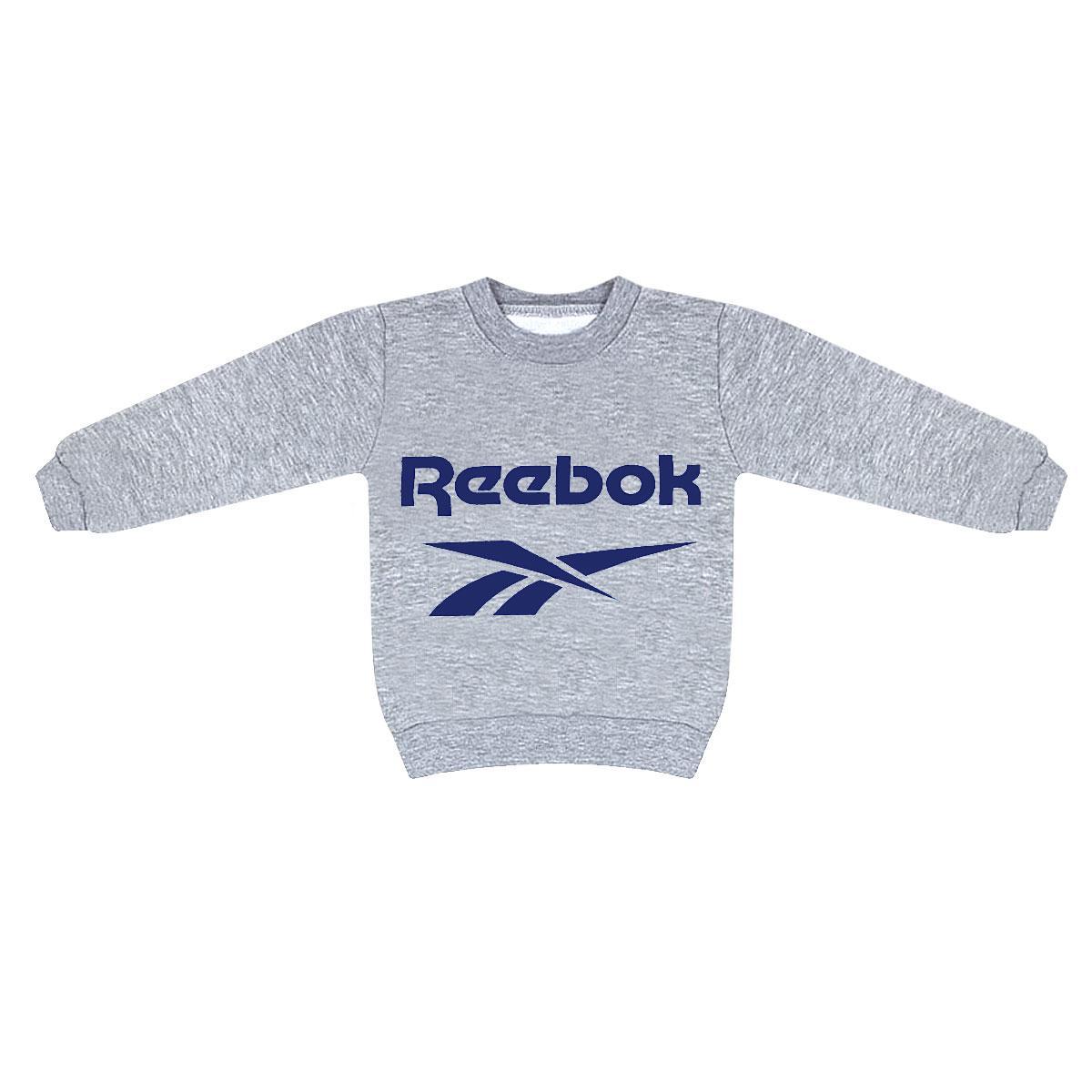 Толстовка детская для мальчика с принтом Reebok трехнитка
