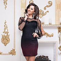 """Платье бордовое коктейльное, новогоднее, вечернее """"Пикассо"""", фото 1"""
