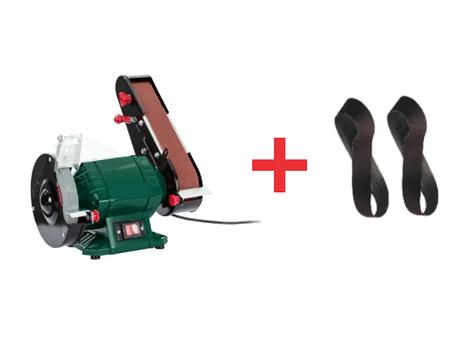Точило дискове стрічкове GRADE(1200Вт) наждак гріндер точильний верстат + 2 стрічки в подарунок, фото 2