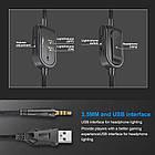 Навушники ігрові ONIKUMA Gaming LED K8, чорні, фото 9