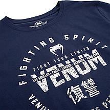 Детская спортивная футболка Venum Signature T-Shirt Navy Blue, фото 3