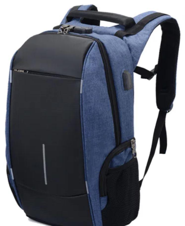 Рюкзак городской 7598 с USB, синий