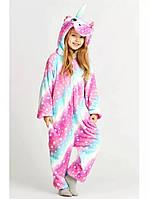 Детская пижама кигуруми Единорог Млечный Путь 130 см