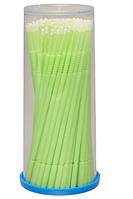 Innovator Cosmetics Микрощеточки безворсовые, 1 мм, Зеленые (S), 100 шт