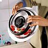 Вакуумная многоразовая крышка 19см для миски тарелки сковородки сохраняет продукты свежими, фото 4