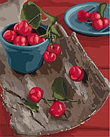 "̊ Яркая картина раскраска по номерам ""Спелые вкусности"" KHO5582, 40х50 см живопись рисование в цифрах на"