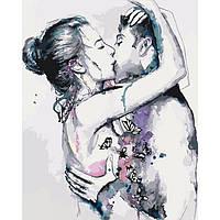 """Яркая картина раскраска по номерам Люди """"Страсть"""" 40х50 см KHO2673 живопись рисование в цифрах на холсте"""