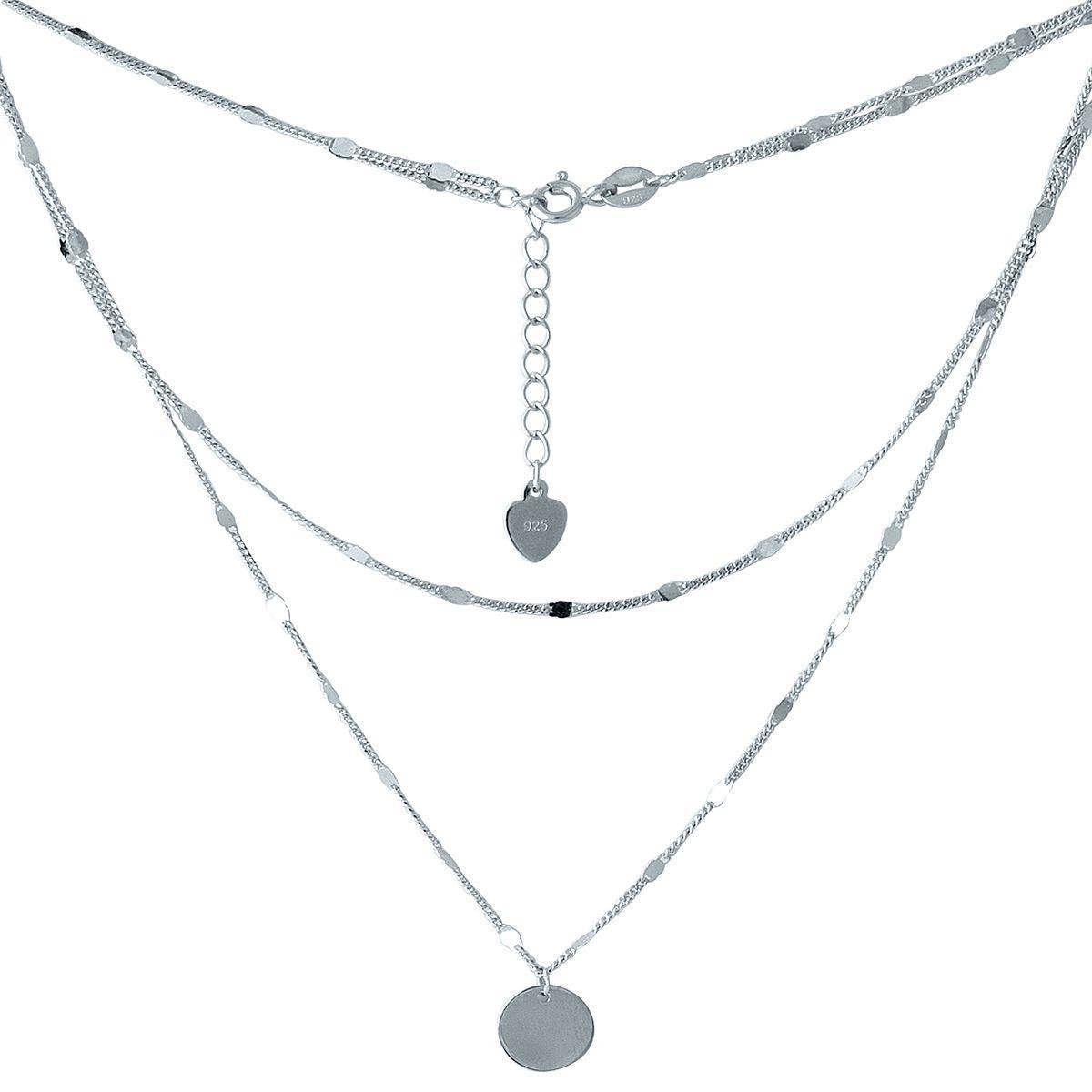Серебряное колье GS без камней (2005605) 440 размер