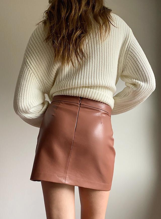 юбка женская молодежная из экокожи