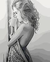 """Яркая картина раскраска по номерам Люди """"Наедине с мечтами"""" 40х50 см KHO4545 живопись рисование в цифрах на"""