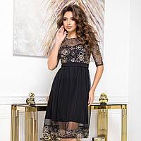 """Изящное коктейльное черное платье вечернее """"RANDEVU"""", фото 1"""