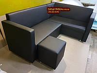 Кухонный уголок с подлокотником со спальным местом и пуфом, фото 1