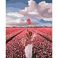 "̊ Яркая картина раскраска по номерам ""Розовая мечта"" KHO4603, 40х50 см живопись рисование в цифрах на холсте"