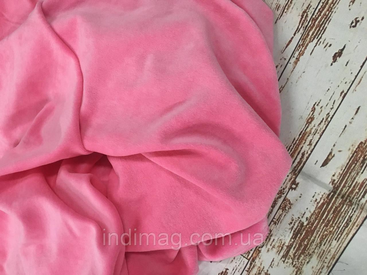 Велюр   хлопок пенье темная розовый