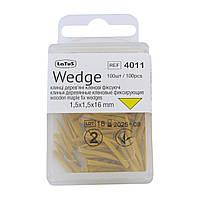 Wedge, 100 шт в упаковке, клинья деревяные фиксирующие, Latus