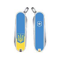 Нож Classic SD Ukraine 58 мм/7предм/белый/желто-голубой. Герб, Vx06223.7R3