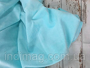 Велюр хлопковый   голубая мята  пенье
