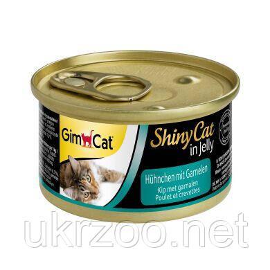 Влажный корм для кошек GimCat Shiny Cat 70 г (курица и креветки) 413327
