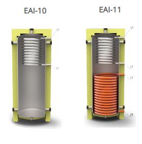 Теплоаккумулятор ГВС Kuydych EAI 350, 500, 750, 1000 - 3500 л.