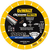 Диск алмазный по металлу диаметром 355 мм с посадочным отверстием 25.4 мм DeWALT DT40257