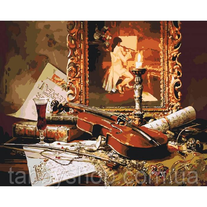 Картина по номерам Идейка - Волшебная музыка скрипки