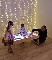 Световой стол-трансформер для рисования песком 100х60 см Ясень Tia-Sport, фото 1